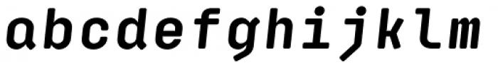 Klamp 105 Mono Bold Oblique Font LOWERCASE