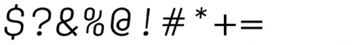 Klamp 105 Mono Book Oblique Font OTHER CHARS