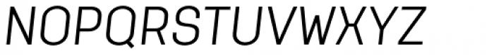 Klamp 205 Book Oblique Font UPPERCASE