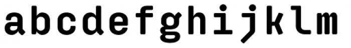 Klamp 205 Mono Bold Font LOWERCASE