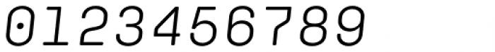 Klamp 205 Mono Book Oblique Font OTHER CHARS