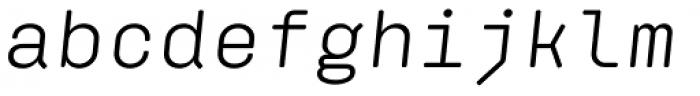 Klamp 205 Mono Book Oblique Font LOWERCASE