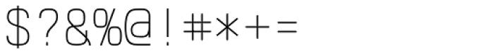 Klartext Mono Thin Font OTHER CHARS