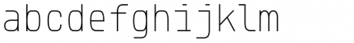 Klartext Mono Thin Font LOWERCASE