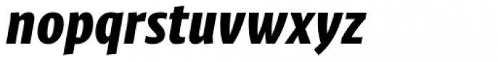 Klaus FY Black Italic Font LOWERCASE