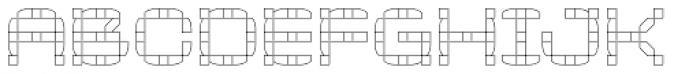 Klaxon One Outline Font UPPERCASE