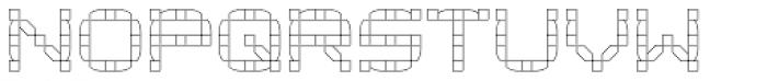 Klaxon One Outline Font LOWERCASE