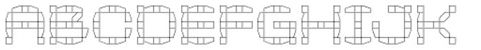 Klaxon Two Outline Font LOWERCASE