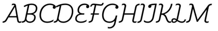 Kleide Light Italic Font UPPERCASE