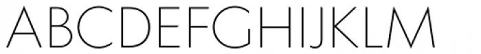 Klein Extralight Font UPPERCASE