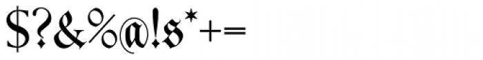 Kleist Fraktur Font OTHER CHARS