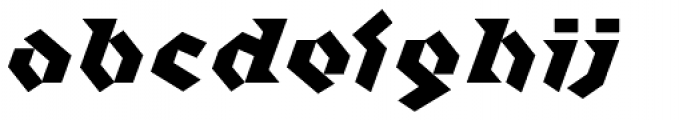 Klute White Font LOWERCASE
