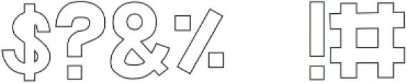 Knackered Outline otf (400) Font OTHER CHARS
