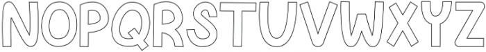 Knackered Outline otf (400) Font LOWERCASE