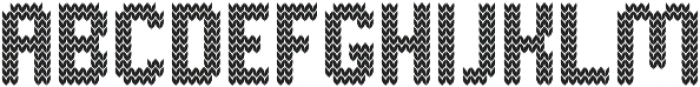 Knitted Normal otf (400) Font UPPERCASE
