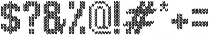 Knitted Tall otf (400) Font OTHER CHARS