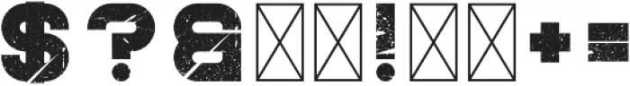 Knowhere BoldRough otf (700) Font OTHER CHARS