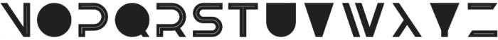 Knowhere OutlineTwo otf (400) Font LOWERCASE