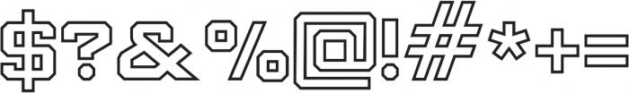 Knox Serif Outline Serif O otf (400) Font OTHER CHARS