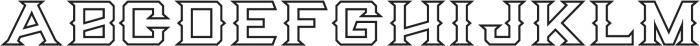 Knox Serif Outline Serif O otf (400) Font UPPERCASE