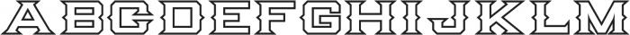 Knox Serif Outline Serif O otf (400) Font LOWERCASE