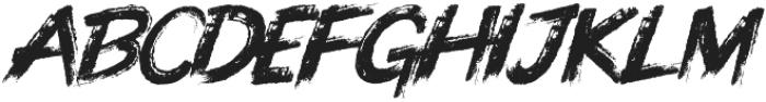 Knuckle Sandwich Italic ttf (400) Font UPPERCASE