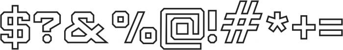 Knucklehead Serif Black otf (900) Font OTHER CHARS