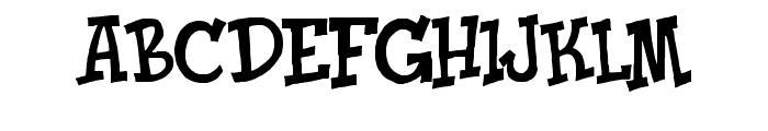 Knick O Teen Font UPPERCASE