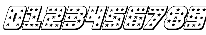 Knievel 3D Italic Font OTHER CHARS