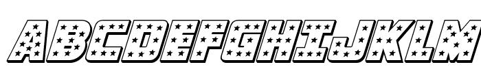 Knievel 3D Italic Font UPPERCASE