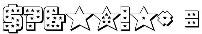Knievel 3D Regular Font OTHER CHARS