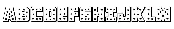 Knievel 3D Regular Font UPPERCASE