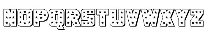Knievel 3D Regular Font LOWERCASE