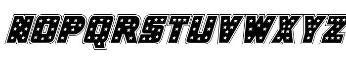 Knievel Academy Italic Font UPPERCASE