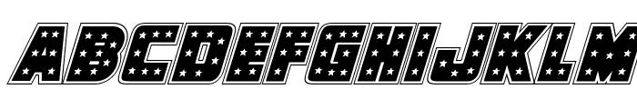 Knievel Academy Italic Font LOWERCASE