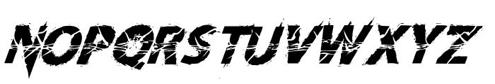 Knife Fight Ballet Italic Font UPPERCASE