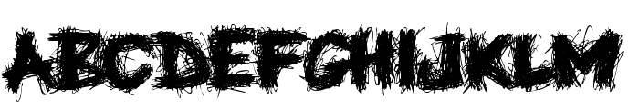 Knife Fight Font LOWERCASE