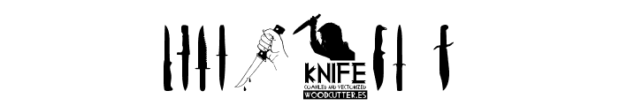 Knife Font OTHER CHARS