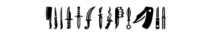 Knife Font UPPERCASE