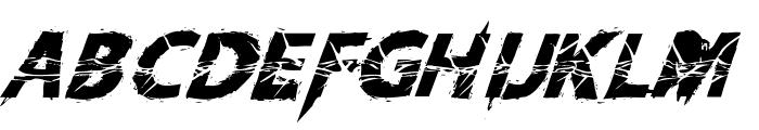 KnifeFightBallet-Italic Font UPPERCASE