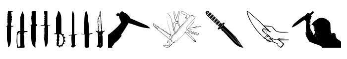 Knife Font LOWERCASE