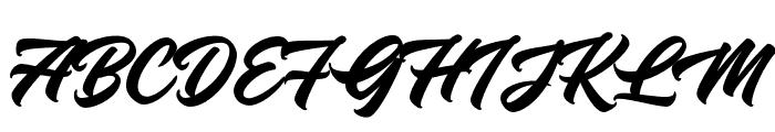 KnightBrushDemo Font UPPERCASE