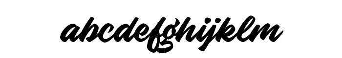 KnightBrushDemo Font LOWERCASE