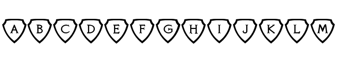 Knights Quest Shielded Font UPPERCASE