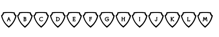 Knights Quest Shielded Font LOWERCASE