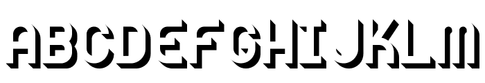 Knochen UltraBlack Font UPPERCASE