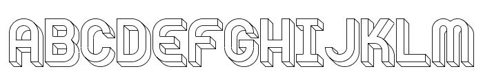 Knochen UltraLight Font UPPERCASE