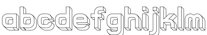 Knochen UltraLight Font LOWERCASE
