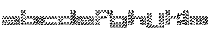 Knot BRK Font LOWERCASE