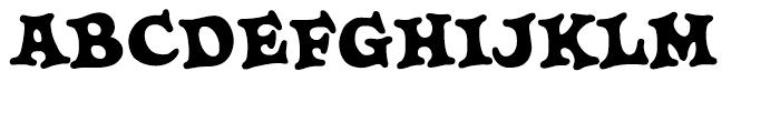 Knobbly Knees Bold Font UPPERCASE
